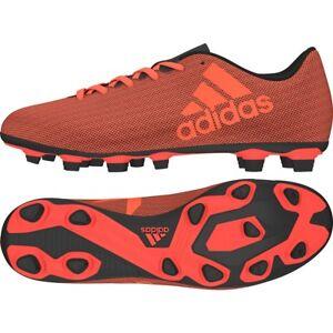 Adidas Men's X 17.4 FxG Soccer Shoes S82400 Orange/Red/Black Sz 8 - 13