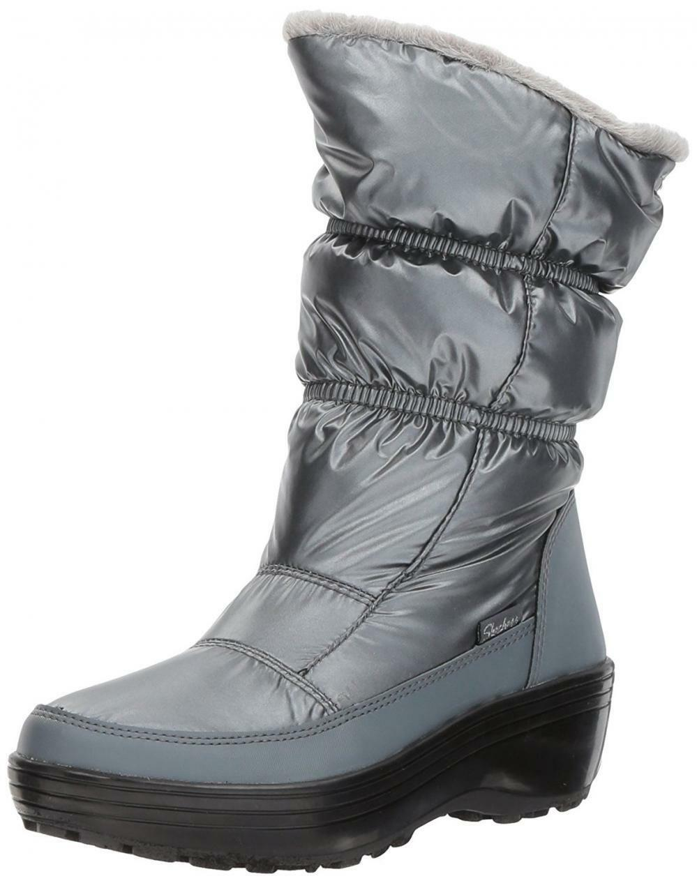 Skechers Women's Alaska-Tall Quilted Snow Boot
