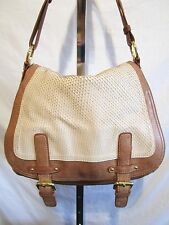Cynthia Rowley, Large Brown Leather & Snake Print Hobo/Shoulder/Satchel Handbag