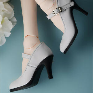 1//3 bjd SD13 SD16 girl doll white high-heel boots Supia Smart feeple luts S-114
