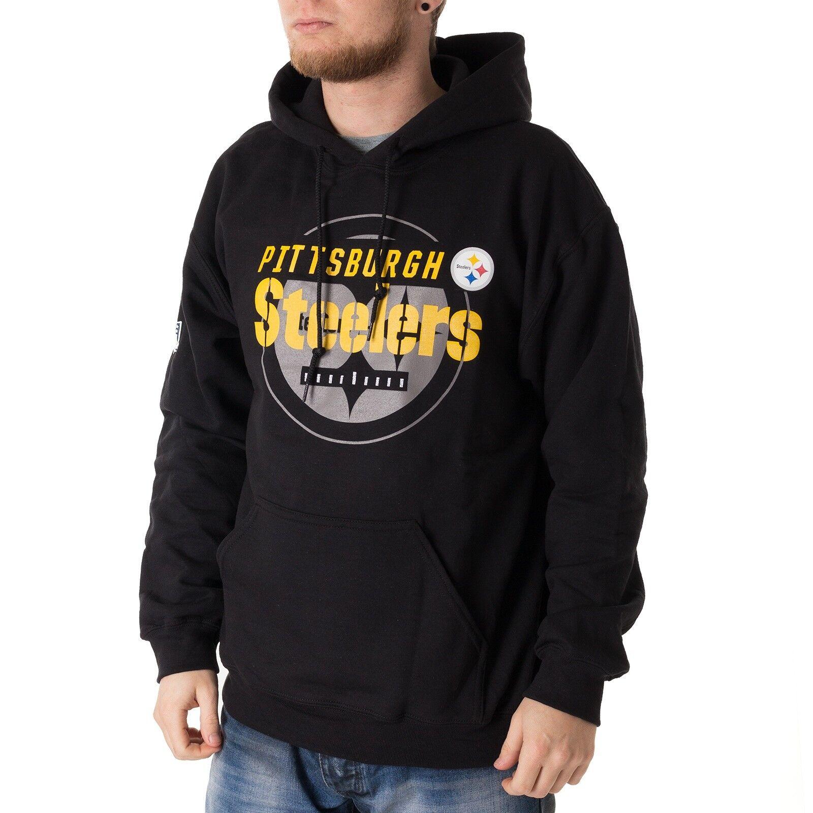 Majestic NFL Pittsburgh Steelers Hoodie Herren Kapuzenpullover schwarz 33885