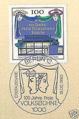 Volksbühne Nr 1a Heller Glanz 866 Mit Sauberem Ersttags-sonderstempel Offen Berlin 1990