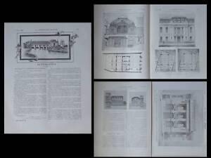 100% Vrai Construction Moderne N°28 1908 Paris, Hotel Annales, Angouleme, Chambre Commerce