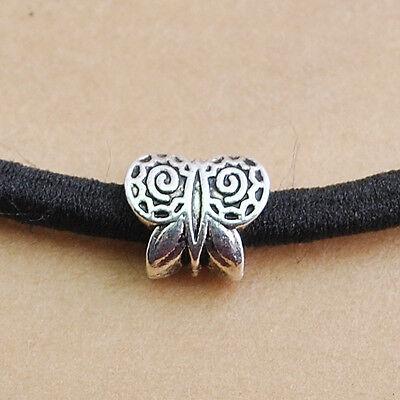 20/50/120pcs Tibetan Silver Alloy Butterfly Spacer Beads10x9mm (4.5mm hole)DZ140