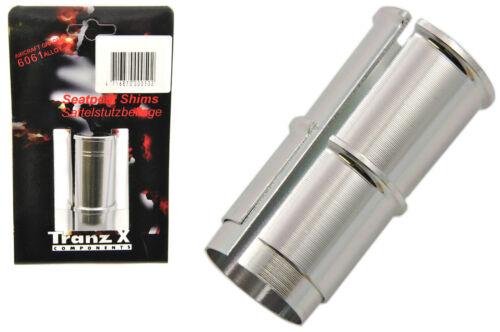 Tranz-x Tige de selle Shim 25,4 mm pour 26.4mm-28.0 mm conique tige de selle housse