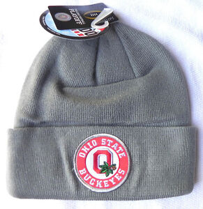 OHIO-ST-BUCKEYES-GRAY-COLLEGE-FOOTBALL-PLAYOFF-CFP-CHAMP-KNIT-CUFF-CAP-HAT-NWT