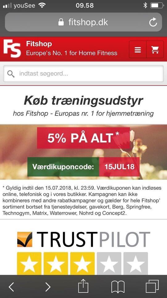 Gavekort til T Fitness/Fitshop.dk  Butikken lig...