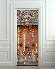 Door Wall or Fridge STICKER antique baroque entrance decole mural poster 30x79
