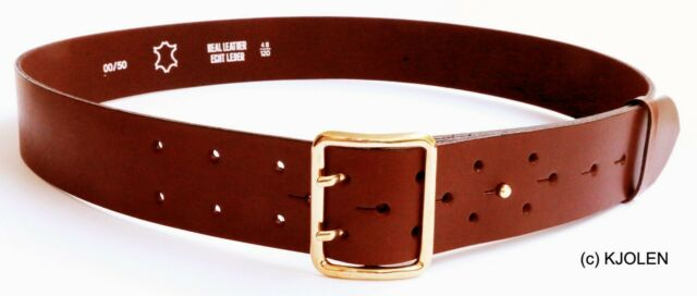 "Handmade Bullhide Leather Belt/_1.5/"" Stainless Steel Roller Buckle/_BLK"