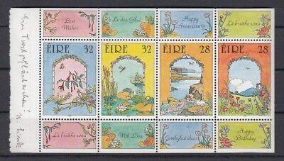25114 Irland 1992 Grußmarken Markenheftchenblatt 31 **,