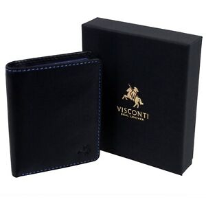 Visconti-Leather-Mens-Compact-Shirt-Wallet-Spectrum-Collection-RFID-Tap-amp-Go