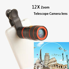 US 12X Zoom Optical Clip-on HD Telescope Phone Camera Lens For Smart Cell Phones