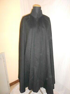 Fashion Style Cappa Panno Lana Nero Primi '900