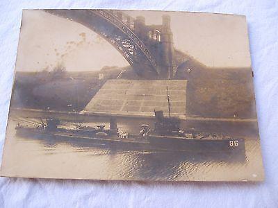 orig.Foto Kaiserliche Marine Großes Torpedoboot T 196 1 WK und  2 WK Brücke