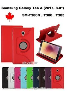 Samsung-Tab-A-8-0-034-2017-SM-T380-T385-360-Leather-Stand-Tablet-Case-Cover