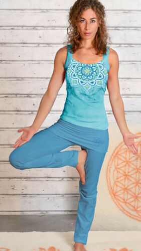 Yoga Hose mit Rockbund aloha-blau The Spirit of OM XS-XL
