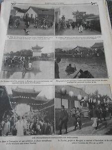 Les-rejouissances-populaires-en-Indo-Chine-Old-Print-1911