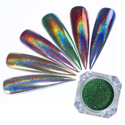 holographisch regenbogen nagel pulver laser glitzer. Black Bedroom Furniture Sets. Home Design Ideas