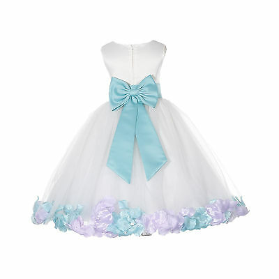 9M-3T New Baby Girl /& Toddler Easter Wedding Party Formal Dress Lilac S M L XL