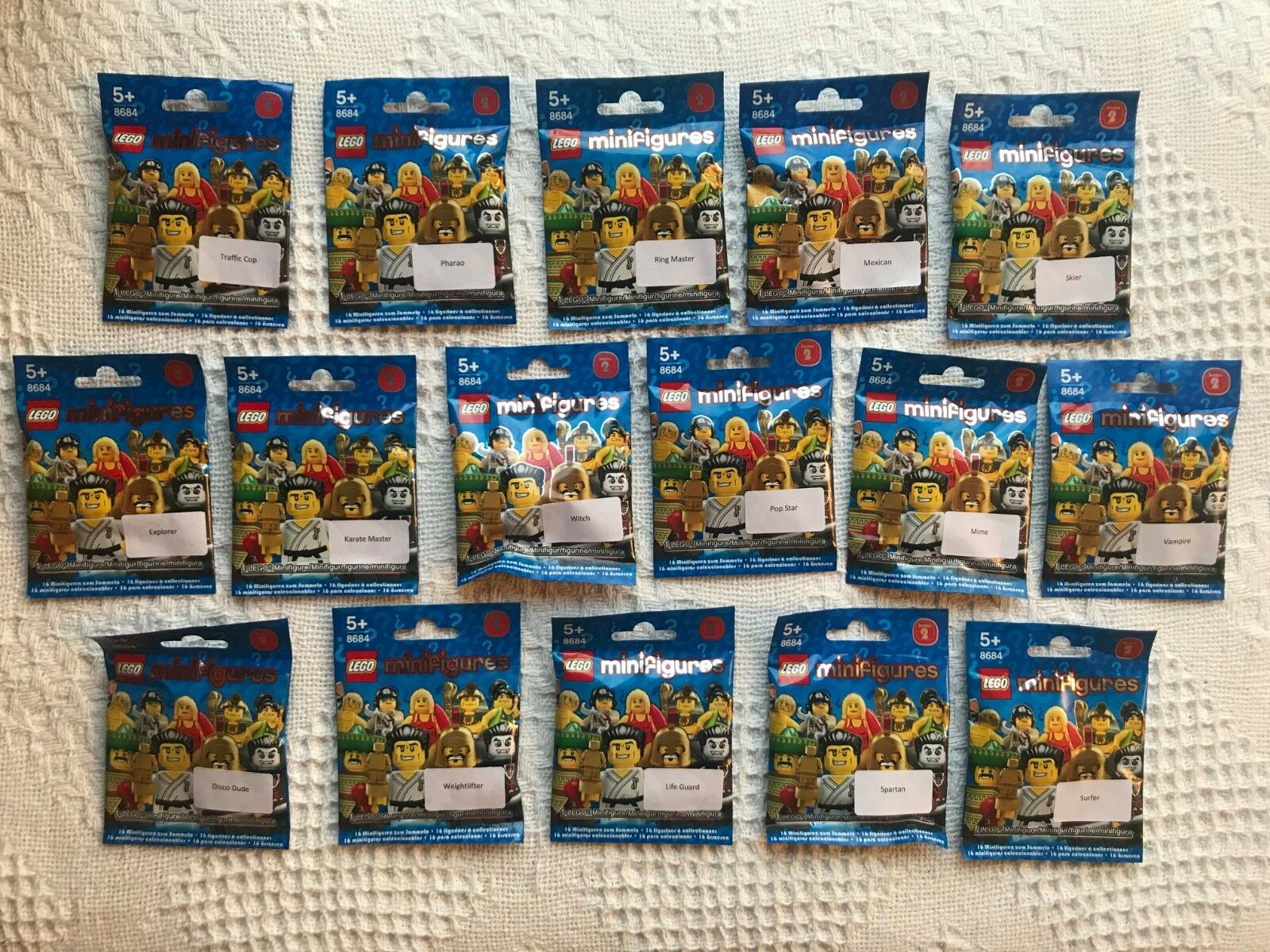 LEGO 8684 Collectable Minifigures Series 2 Complete Set - Brand New Sealed