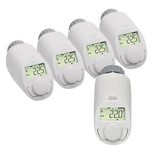 Eqiva-5er-Set-Model-N-Elektronik-Heizkoerper-Thermostat-mit-Boost-Funktion-bis-z