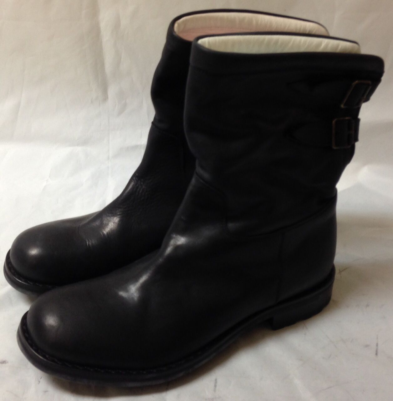 Oliver Sweeney black chapter leather boots. Size 7.