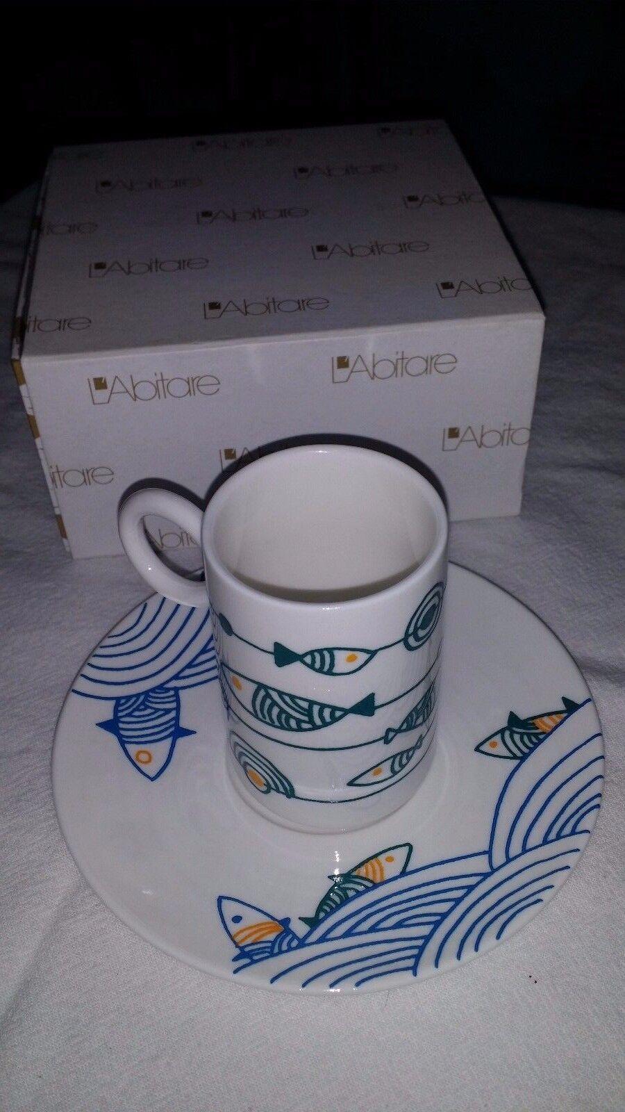L'abitare Italian Cup & Saucer Fish Espresso set