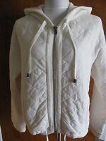 Free People Women's White Hooded Cotton Jacket Size Small, Medium, Large