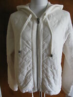 Free People Women's White Hooded Cotton Jacket Size Small, Medium, Large