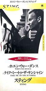 Sting-CD-Single-8cm-When-We-Dance-Japan-VG-EX