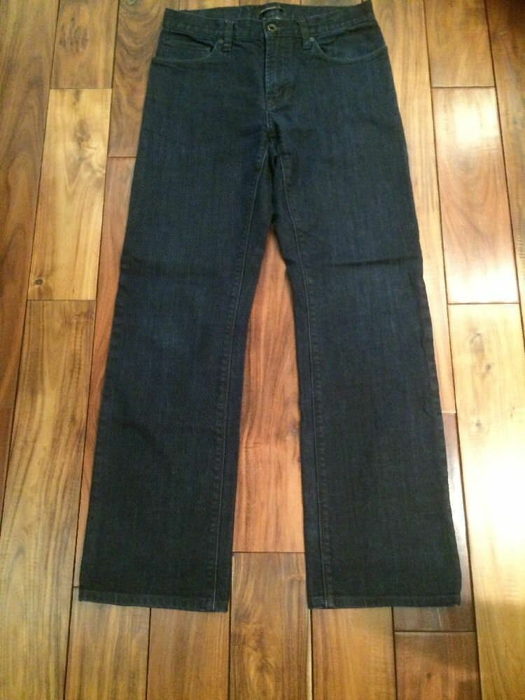 John Varvatos Authentic Classic Straight Washed Dark bluee Zip front Jeans Sz 30R