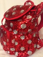 MINNIE MOUSE POLKA DOTS SEQUINED RED DISNEY PARK BACKPACK BAG New Tag