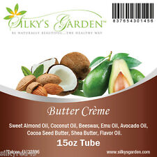 All Natural Shea Butter & Emu Oil Lip Balm - Butter Creme - NO PETROLEUM
