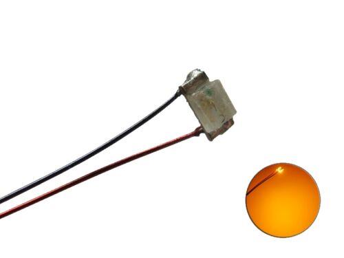 S1129-5 Stück SMD LED 0603 orange mit Draht Kupferlackdraht Kabel mini LEDs