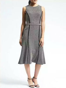 NWT-Banana-Republic-New-138-00-Women-Convertible-Jacquard-Dress-Size-2Tall