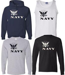 new arrivals 3d1c4 e770f NEW! US NAVY Eagle Logo Military Forces T-shirts Sweatshirts ...