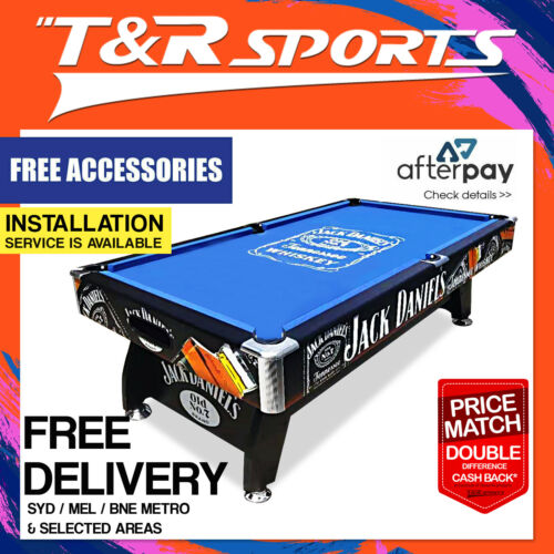 8FT MDF Black / Blue Pool Snooker Billiards Table Free Accessory