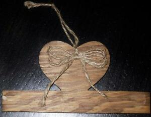 PRIM SMALL WOOD HEART WALL HANGER Handmade in USA