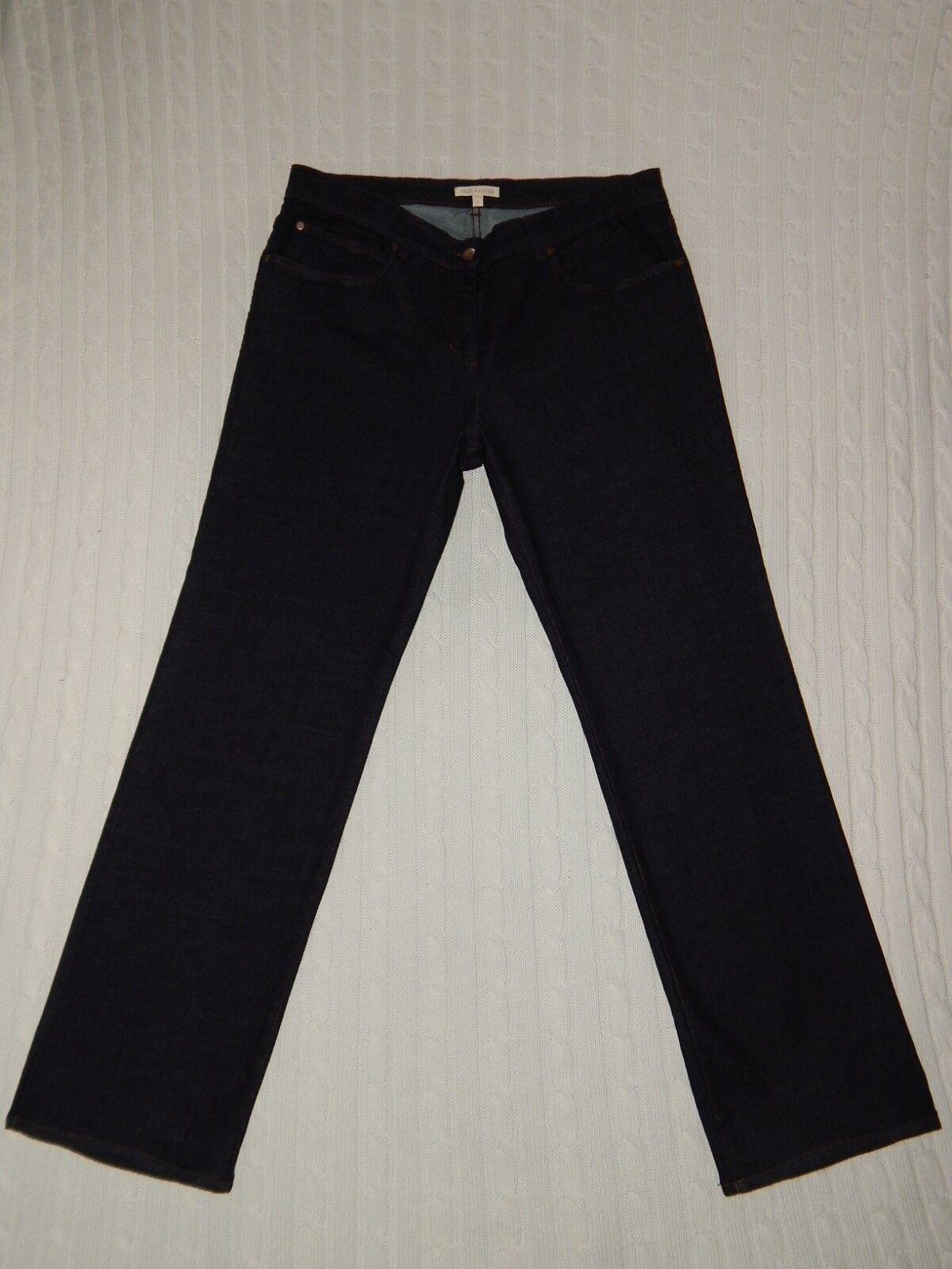 EILEEN FISHER – M Medium – BOOT LEG Organic Cotton Dark Jeans  Y370 30.5  inseam