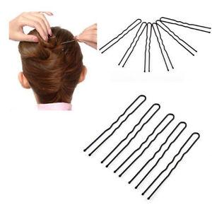 6pcs Black//Brown Hair Pin Hair Clips Plastic U Shape Hairpins For Women Ladies