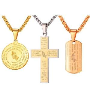 U7-Praying-Hands-Pendant-Stainless-Steel-Necklace-Religious-Bible-Verse-Cross
