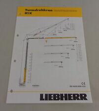 Datenblatt Technische Beschreibung Liebherr Turmdrehkran 40 K von 04//1995
