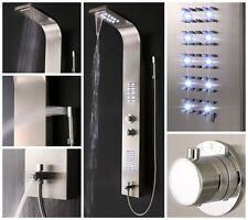 Dusche Duschpaneel Duscharmatur Thermostat Duschsäule LED Beleuchtung Wasserfall