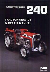 massey ferguson mf240 workshop service manual 191pg with mf 240 rh ebay co uk MF 240 Tractor Parts MF 240 Tractor Parts