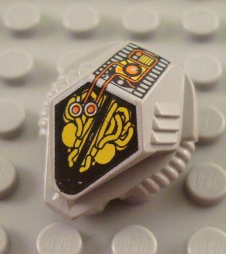 LEGO Light Gray Space UFO Minifigure Helmet with Mechanical Pattern