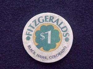 Details about $1 CASINO CHIP -- FITZGERALD'S CASINO -- BLACK HAWK, COLORADO  --