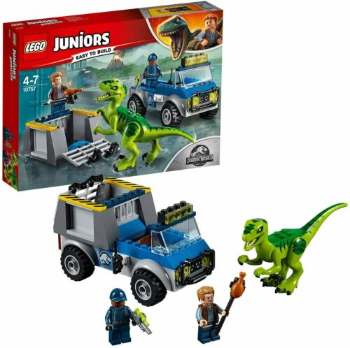 Lego Juniors Jurassic World Raptor Rescue/' Set Dinosaur Truck Cage Fun Kids Play
