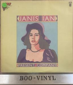 Janis Ian Present Company Vinyl UK Capitol Vine Series 1st Press A1/B1 LP EX CON
