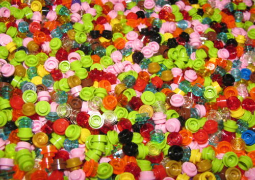 LEGO LOT OF 100 NEW 1 X 1 ROUND DOTS PLATES PIECES