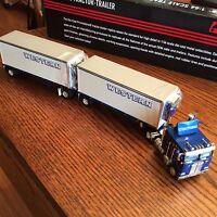 Western Kenworth K100 Tractor Trailer Reefer Semi Doubles Truck Dcp Die Cast